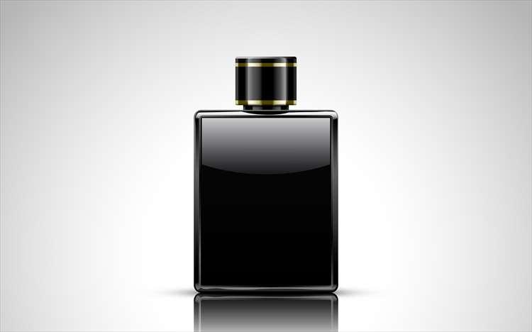 Изображение флакона с черным красителем