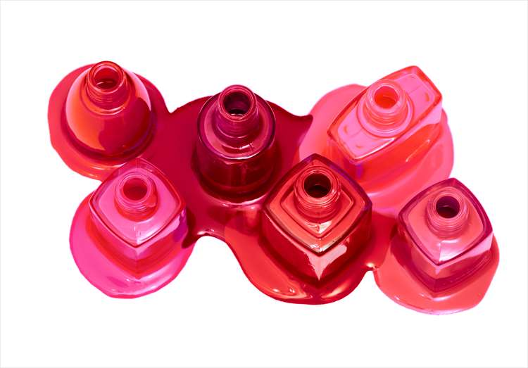 Image of red or pink ink